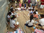 Lunch time of children