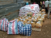 Rice & Foods for victims affected by flood
